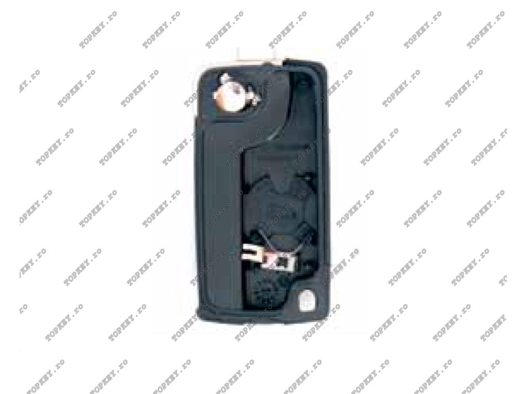 Carcasa telecomanda Peugeot si Citroen cu lamela HU-HCAP si loc pentru baterie
